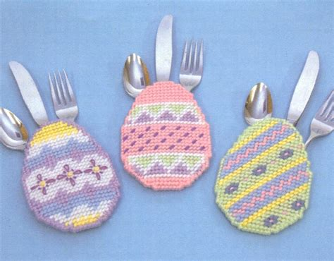 Easter Egg Silverware Pockets Pattern