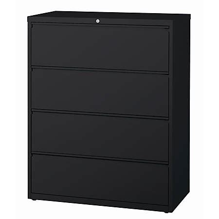 metal lateral file cabinets 4 drawer workpro metal lateral file cabinet 4 drawers 42 w black