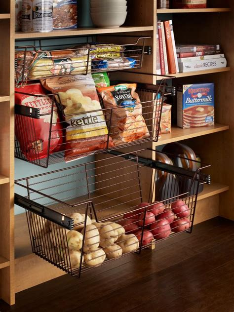 kitchen basket storage pictures of kitchen pantry options and ideas for efficient 2293