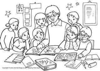 teacher colouring pages  kids