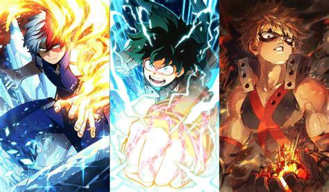 kimetsu  yaiba trio   hero academia trio battles