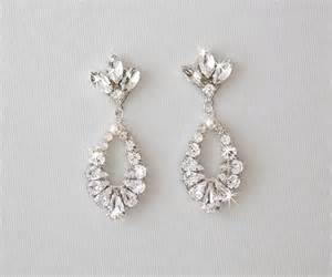 vintage wedding earrings wedding earrings bridal earrings vintage style rhinestone earrings dangle earrings