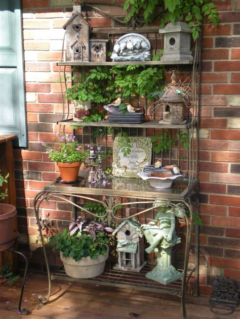 rustic baker s rack for the garden backyard patio
