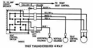 Power Seat Wiring Diagram Of 1965 Ford Thunderbird 4 Way