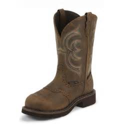 womens steel toe boots canada 39 s justin 11 quot steel toe work boots bark 582233 cowboy boots at 365
