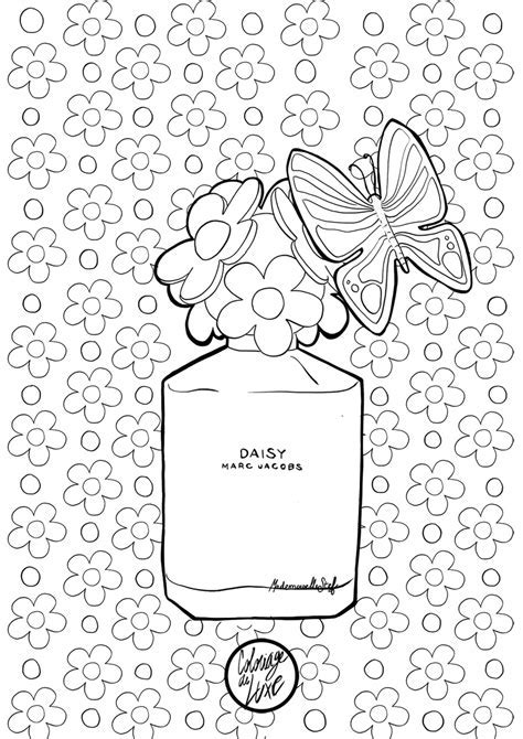 Colouring Book For Adults Coloriage Daisy By Marc Jacobs I
