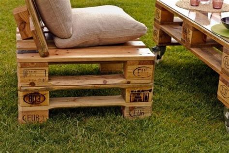 chaise palette mobilier fabriqué avec des palettes en bois meubles
