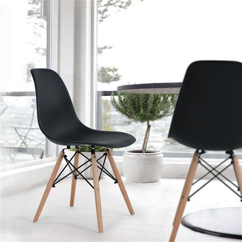 pc black chair eiffel kitchen dining chair armless desk