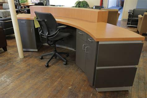 Custom Crescent Laminate Reception Desk Peartree Office