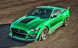 Download wallpapers Ford Mustang Shelby GT500, supercars, 2020 cars, tuning, Green Ford Mustang ...