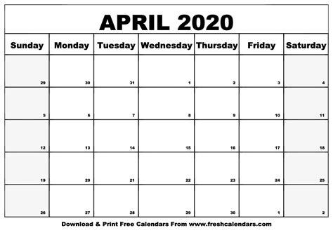 april calendar printable fresh calendars