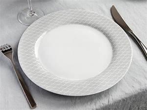 Service De Table 18 Pièces : service de table en porcelaine motif vague gris 18 pi ces baltik ~ Teatrodelosmanantiales.com Idées de Décoration