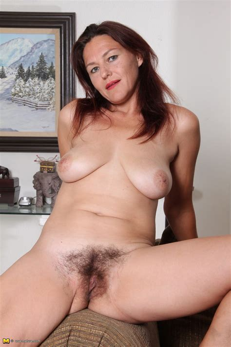 Hairy Mature Cutie With A Sweet Smile Fucks A Dildo