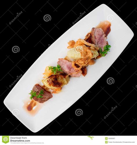 moderna cuisine medium fried duck breast royalty free stock photography image 32630097