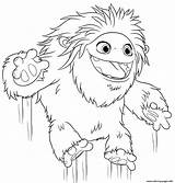 Abominable Yeti Coloring Pages Printable Jumping Everest Print из раскраски все категории sketch template