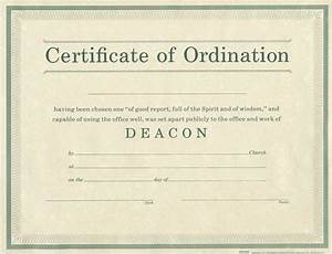Parchment archives bh publishing group for Free ordination certificate