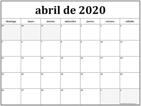 abril de calendario gratis calendario abril