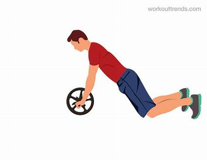Ab Wheel Roller Rollout Exercise Roll Workout