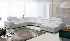 contemporary 105 white leather sectional sofa modern With sectional sofa 105