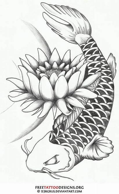 Koi Tattoo Fish Flower Then Yang Circle
