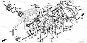 Honda Atv 2016 Oem Parts Diagram For Front Crankcase Cover
