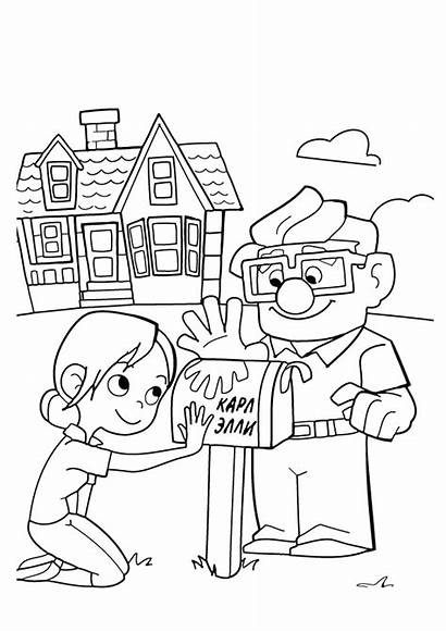 Coloring Pages Disney Pixar Drawing Template Carl