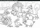 Coloring Farm Pdf Animal Stream Drawing Scene Anatomy Animals Human Printable Getcolorings Getdrawings sketch template