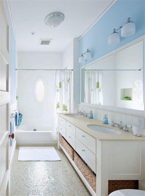 Kleines Bad Farbe by Farbe F 252 Rs Badezimmer Blau Wei 223 Mosaik Bodenfliesen