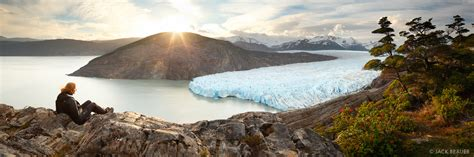 Glaciar Grey Sunset Panorama : Torres del Paine, Chile ...