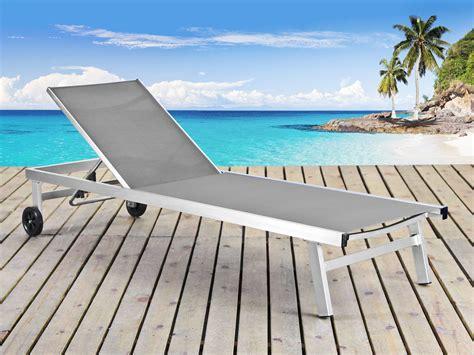 siege electrique pour escalier bain de soleil en aluminium brossé quot seychelles