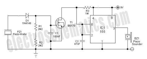Pressure Sensor Alarm Circuit Schematic
