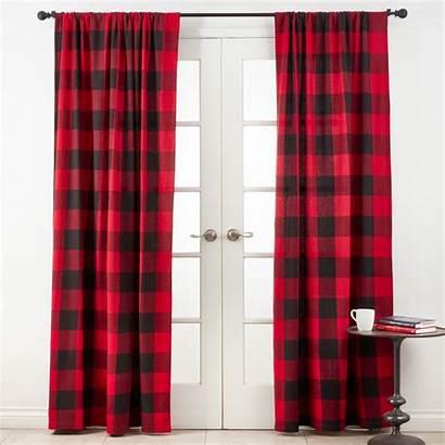 Plaid Buffalo Curtain Panel Curtains Walmart Single