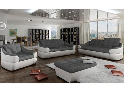 canape blanc et gris canapé en tissu et simili gris blanc ou gris noir farez