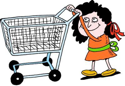 Shopping Cart Clipart Image Pushing Empty Shopping Cart No Matter How