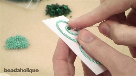 bead embroidery   formed shapes youtube
