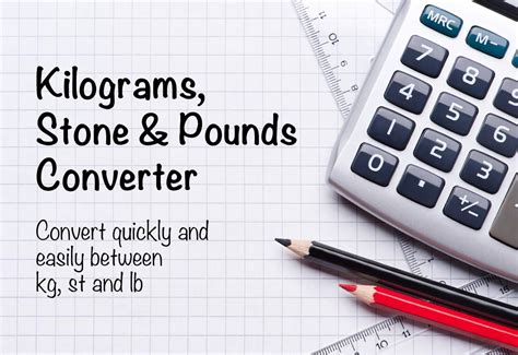 Kilograms to Stones and Pounds Conversion (kg to st and lb