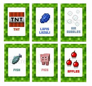 Printable Minecraft Food Labels - Creative Little Parties