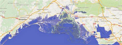 simulation montee des eaux cartes les c 244 tes de la les plus menac 233 es par la hausse du niveau des mers