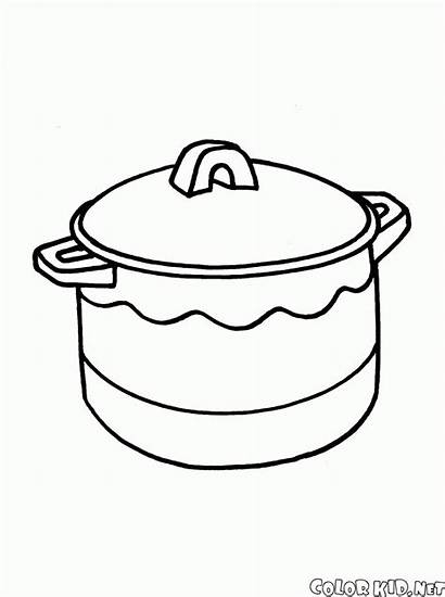Pan Coloring Frying Dishes
