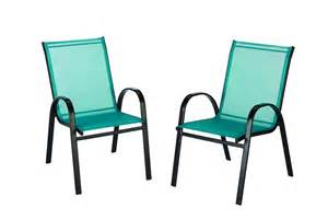 the home depot outdoor sling stack chair in teal the home depot canada