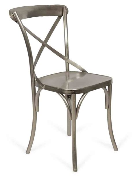 metal cross back chair silver april oak