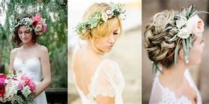 Couronne De Fleurs Mariée : les coiffures tendance pour votre mariage ~ Farleysfitness.com Idées de Décoration
