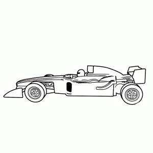 formule  racewagens kleurplaten leuk voor kids