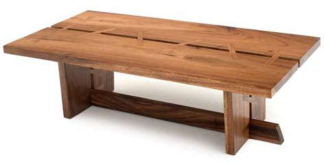 Contemporary Wood Coffee Table, Solid Wood, Modern Decor