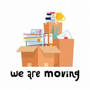 We are moving . office cardboard boxes with stuff ...