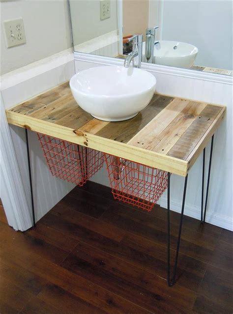 Diy Pallet Wood Vanity  101 Pallets
