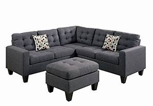 product reviews buy modern contemporary polyfiber fabric With mancini modern sectional sofa and ottoman set