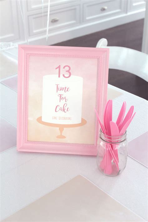 Kara's Party Ideas Peach and Pink Ombre Watercolor 13th