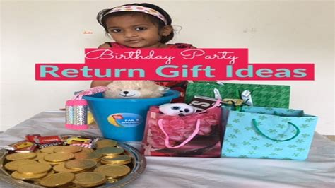 Birthday Return Gift Ideas For Kids Party Goodie Bags