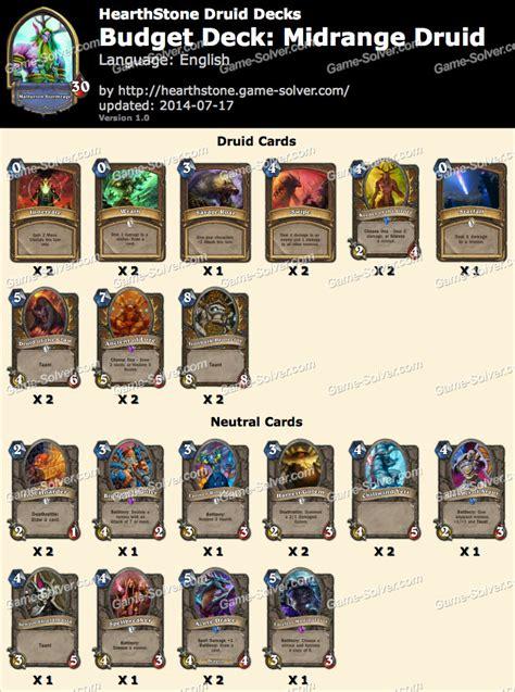cheap druid deck hearthstone 2017 budget deck midrange druid
